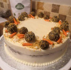 vegan hemp carrot cake frosting