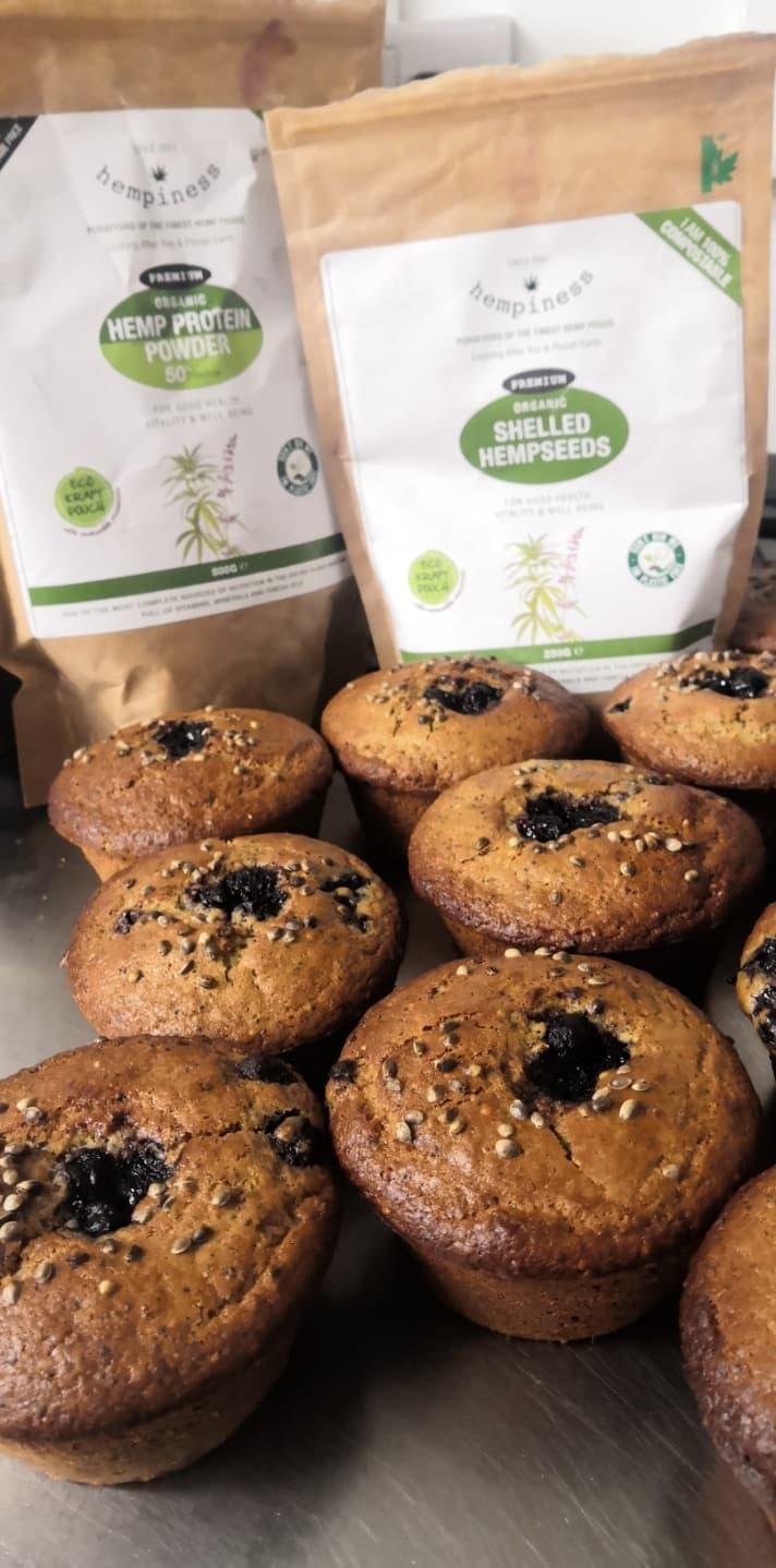 hemp banana gluten free muffin