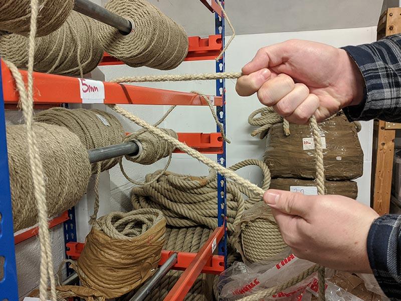 Polishing Hemp Rope