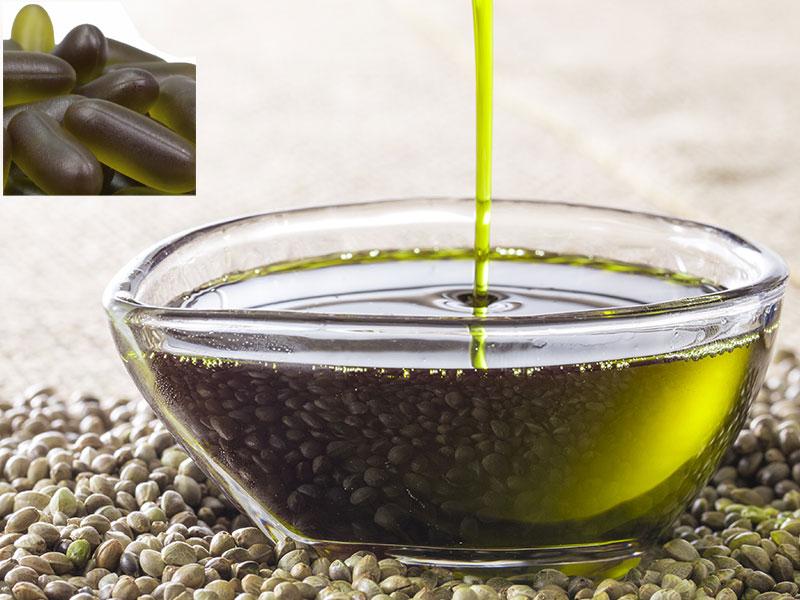 Hemp seed oil and capsules