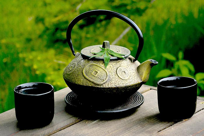 Hemp Tea Pot and Cups