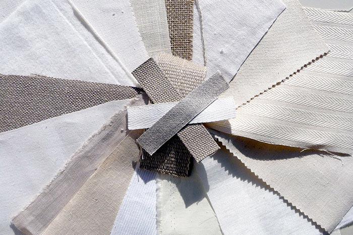 hemp fabric swatches